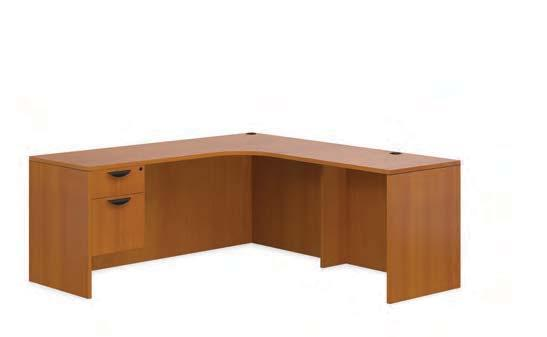 LAYOUT SL-M Shown in American Cherry (ACL) LAYOUT SL-N Shown in American Cherry (ACL) SL7136CER Credenza with Corner