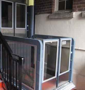 no pit required the B-type platform lift doesn t require a pit as the platform lift comes with an internal ramp.