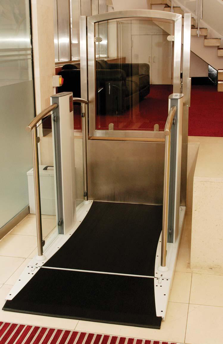 This low rise lift blends in and can be easily installed into any environment.