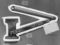 Regular Duty Parallel Arms Hold Open Arms P4H - Flush Frame, Friction Hold Open Arm Holds open from 75 180 Easily adjusted by wrench Use on frames where stop or soffit is too narrow to mount the