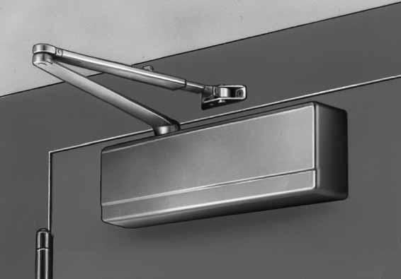 "Standard Application O ARM SHOWN 351-0 Standard Application 6-5/8"" (168mm) 3/8""(95mm) 7/8"" (22mm) 3-7/8"" (58mm) 2-3/16"" (55mm) The standard application of the 351 door closer is the most common and"