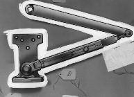 Regular Duty Parallel Arms Hold Open Arms P4H - Flush Frame, Friction Hold Open Arm Holds open from 75 to 180 Easily adjusted by wrench Use on frames where stop or soffit is too narrow to mount the