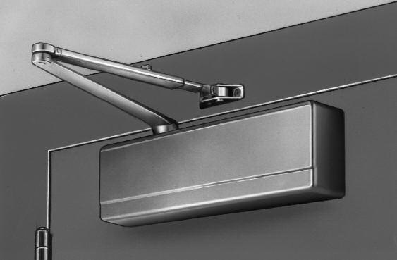 Standard Applications 281-O Standard Application O ARM SHOWN The standard application of the 281 door closer is the most common providing high degree of door control and range of power adjustment.