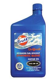 com S For more information, see ad page 41 of NOLN,, 10W-40,, 10W-40 0W-20,, GULF LUBRICANTS Gulf Super Duty Plus Diesel Engine Oil Gulf Synthetic Blend