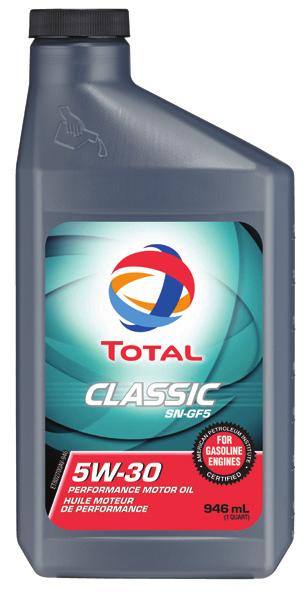 The QUARTZ Innovation (continued) TOTAL QUARTZ 9000 ENERGY 0W-30 ONLY Total Quartz 9000 Energy offers a full range of superior quality motor oils for light-duty gas and diesel vehicles.