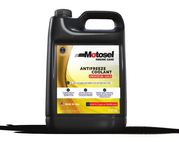 UNIVERSAL ANTIFREEZE & COOLANT Motosel Universal Antifreeze & Coolant is a premium quality antifreeze / coolant that is compatible with all automotive and light duty truck antifreeze / coolant