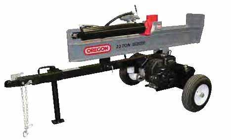 Log Splitters FEATURESES AND BENEFITS Auto return valve 2-stage, 11 GPM pump Safe and ergonomic control positioning and optimized working height