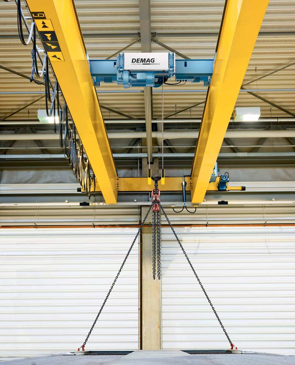 EK-DMR low-headroom monorail hoist C-design for compact overall 41474 41468 41467 dimensions and reduced