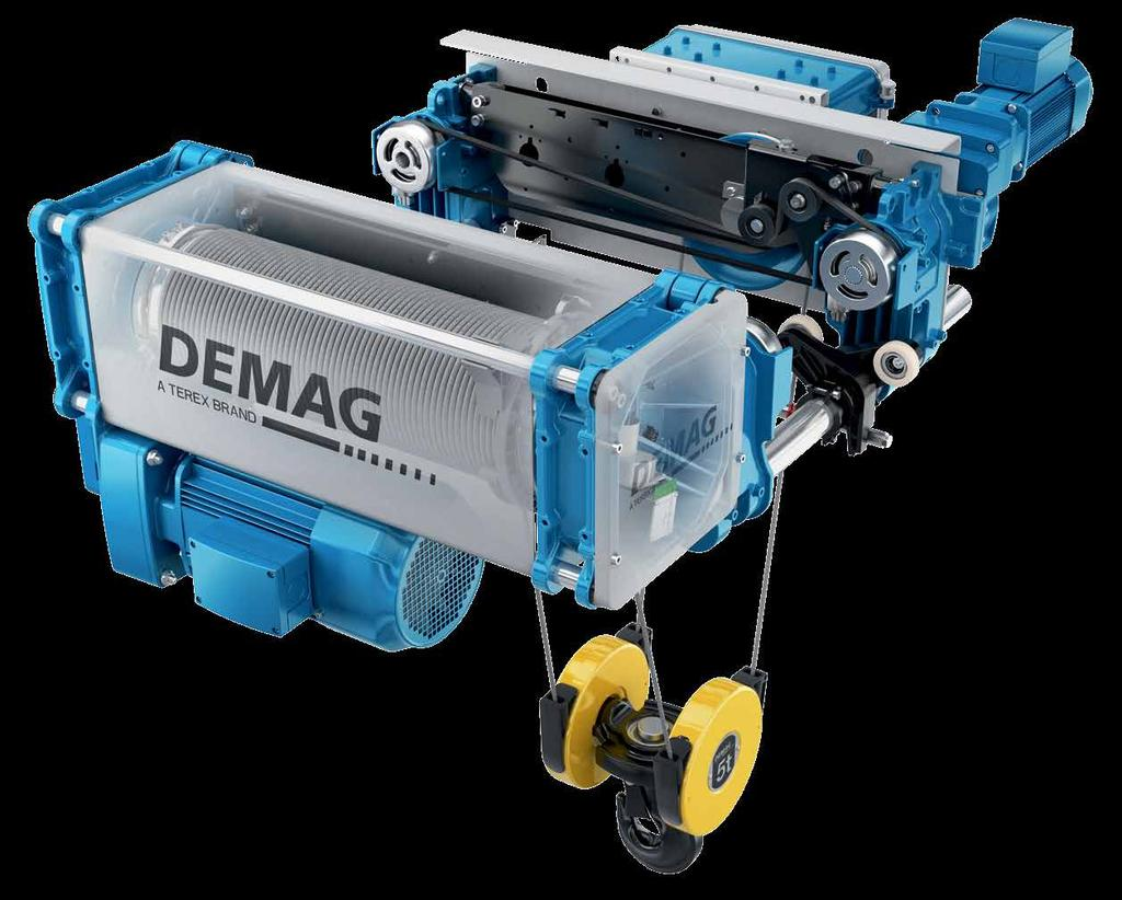 Innovative and cost-effective The Demag DMR modular rope hoist not only demonstrates its versatility in a wide variety of applications, but also boasts impressive technical details: many innovative
