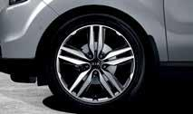 "Alloy wheel kit 18"" Type C 18 ten-spoke alloy wheel, dark metallic inserts, 7.5Jx18, suitable for 235/45 R18 tyres. Kit includes a cap and five nuts."