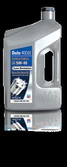 fuel and oil consumption. Delo-branded engine oils do just that and more.