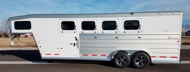 stainless steel front *All trailers shown with optional