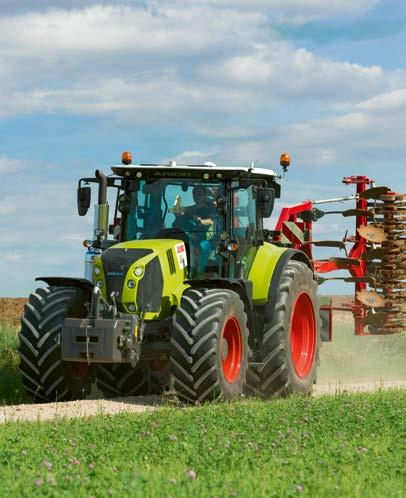 5 and 8.0 t, ARION 600 / 500 tractors can carry the heaviest of implements.