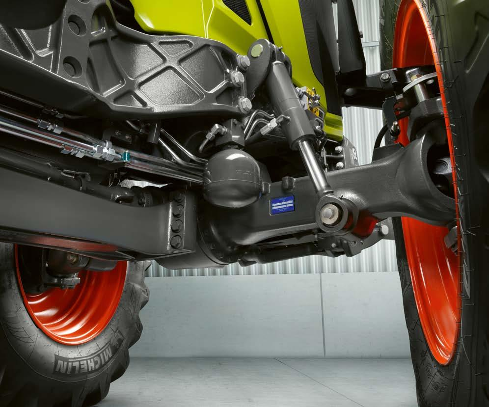 NEW Suspension that protects both operator and machine. Comfort Full four-way suspension.