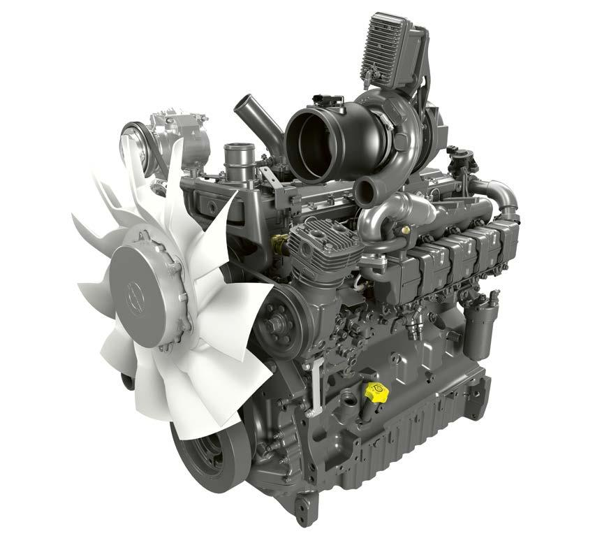 turbocharger Common rail injection (1,800 bar) 4-valve technology and intercooler ARION 600: two engine idling speeds (650 and 800 rpm) with automatic adjustment to reduce stationary fuel consumption