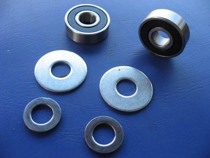 Another more recently available option for the cable ends is spherical rose-joint type bearing inserts, but I have not used these personally.