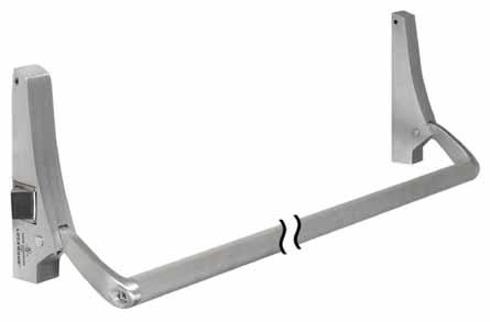 EXIT DEVICES CLOSERS LOCKS HINGES FLAT GOODS MISCELLANEOUS 14 N900 Easy to install C-UL US listed as Panic Exit Hardware For single or double doors Arms are die cast aluminum, HANDED Crossbar 1