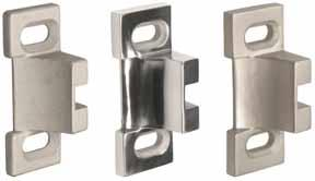 "4-7/8"" No.10 For single door No.14 Top strike, surface mounted No."