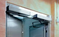 The integrated damper unit stops the door from slamming shut. If there is a power cut, the door can be closed by means of its spring mechanism from any position.