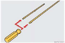 Assemble the release tool which consists of the screwdriver handle and the