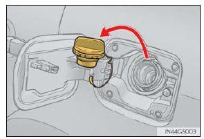 The fuel filler is located on the left-hand (driver s) side of the vehicle on the rear quarter panel and