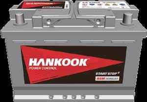 STARTER BATTERIES HANKOOK BATTERIES Always replace your battery with a new battery with the same technology!