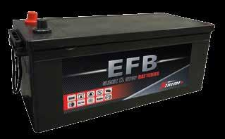 Optimum starting power and maximum capacity Enhanced stability under mechanical vibrations and/or shanking Alt. Voltage START-STOP EFB Layout Fixation Terminals 640.90.