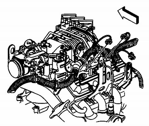 23. Position the engine wiring electrical harness to the engine. 24.