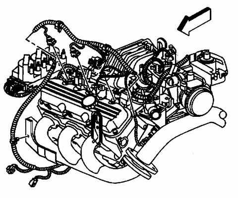 25. Connect the wiring harness electrical connectors to the following components on the left side of the engine: ^ The fuel injectors ^ The ignition harness ^ The boost control solenoid, L67