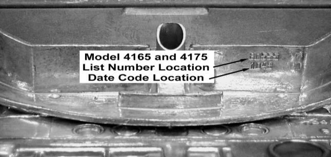 When reassembling the carburetor, use the adjustment specification list to make the necessary adjustments for the list number of your carburetor.