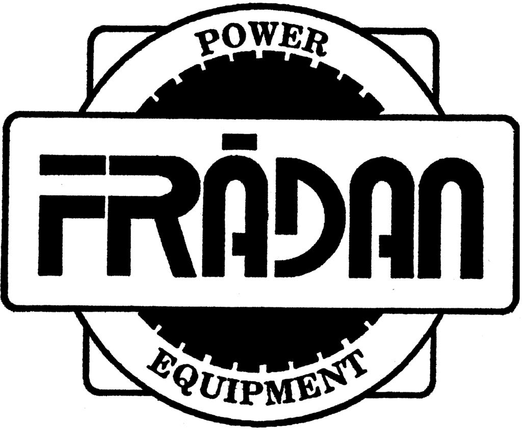 OPERATOR MANUAL FRADAN POWER BLOWERS