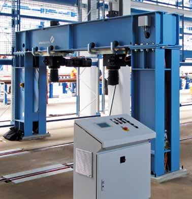 DB vehicle maintenance, Dessau plant DB intercity plant, Frankfurt/Griesheim Function features Assembly stand for the rapid and
