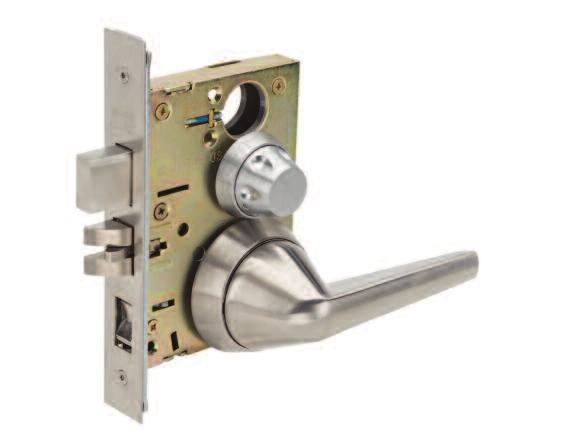 Series SS19 Institutional Life Safety Mortise Locksets - Levers Performance Specifications: Life Test: 1,500,000 cycles minimum.