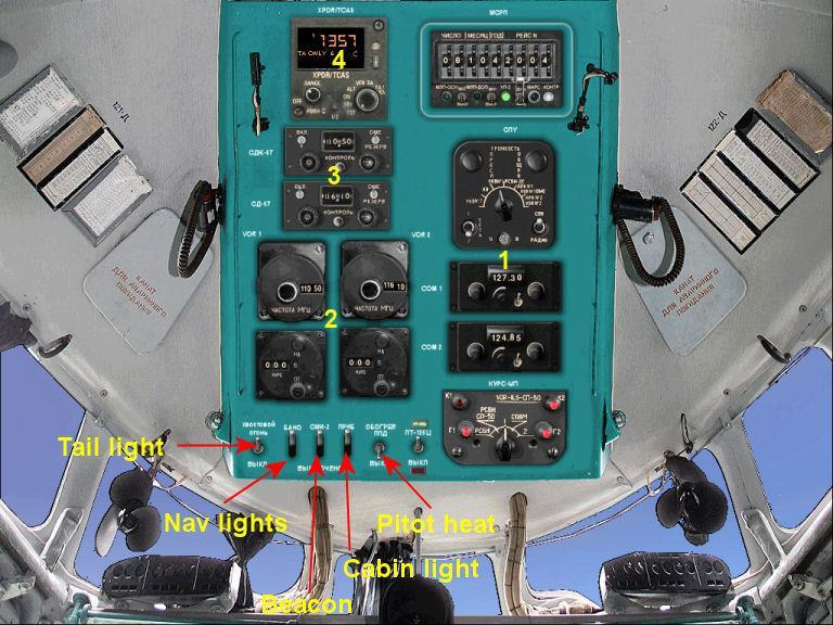 2 accordingly. For KLN set knob to GPS. Open the overhead panel 1.