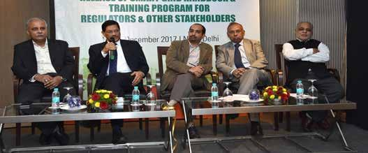 Training and Capacity Building of Regulators and Other Stakeholder held during the Training Program Left to Right: R N Sen, Chairman - WBSERC, U N Behera,