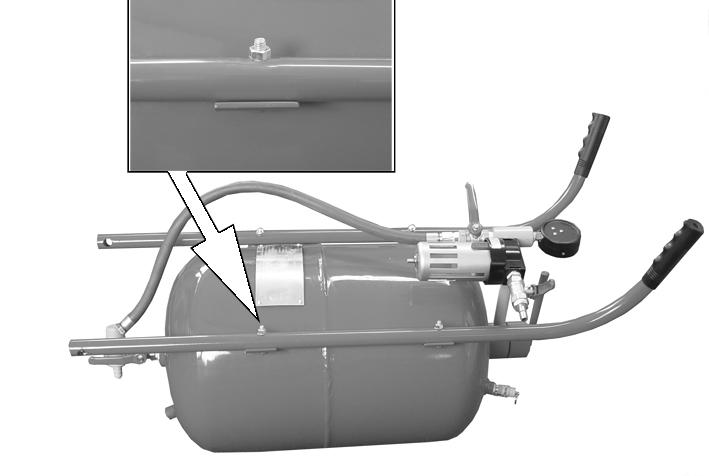 2. Align the holes in the left handlebar with the handlebar mounting brackets on the left side of the tank. Fig 2 3.