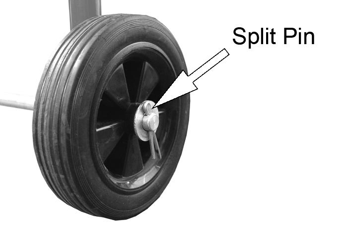 Place a wheel onto each end of the axle then slide a washer onto the axle. 4.