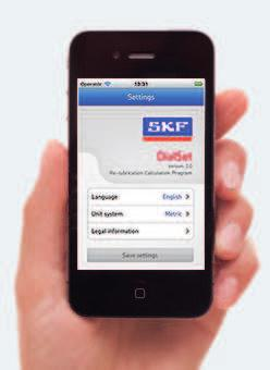 Quick tool for relubrication calculation SKF DialSet SKF DialSet has been designed to help you to set up your SKF automatic lubricators.