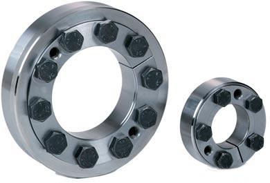 KTR 0 Applications on hollow shafts, slip-on gears, couplings, mechanical shrink connections Suitable for high torque loads Easy assembly by optical mounting groove Corrosion-resistant outer ring