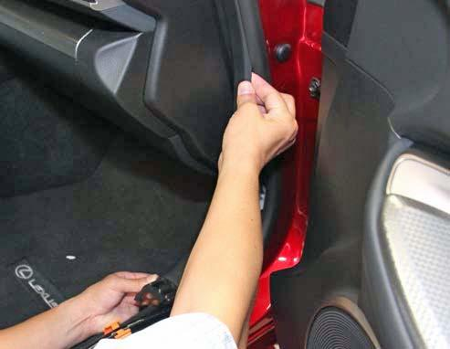 5. Reassemble the Vehicle. (a) Reinstall the lower instrument panel covers. Make sure all hooks are snapped in and all screws are fastened. (b) Assemble the cowl panels.