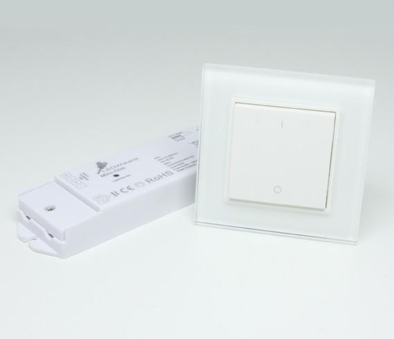 The simple modern design and elegant Ivory White surface compliments a variety of LED projects.