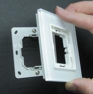 3 Take the rear mounting plate and hold it up to the desired mounting location.