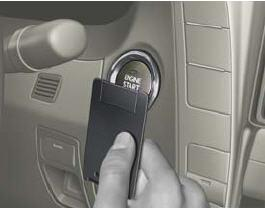 brake pedal then depress the POWER button to start the vehicle.