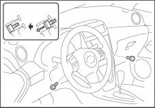 3. Remove the Steering Pad Ratchet, Extension, Torx Socket (T30) (a) Loosen the two (2) Torx bolts until they are loose enough to turn freely by hand. (Fig.