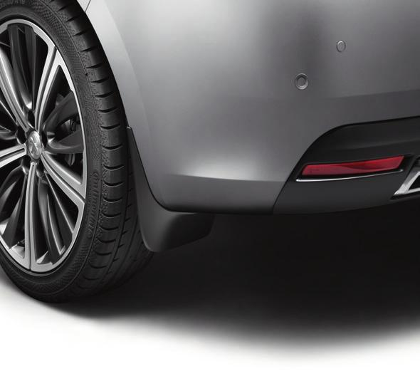 Styled mudflaps - Saloon and SW only Designed to complement the lines