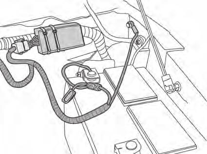 Ground Secure Ground Wire Secure Wiring Harness Route the longer leg of the harness that