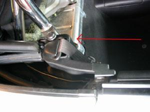 10. Cut the Quarter Trim Panels The panel was designed to clip into place from the side.