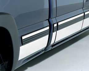 STEEL SIDE MOLDINGS Protects your rocker panels from rock chips and other road debris Custom-fit