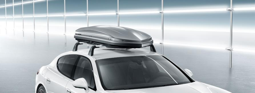 Roof box 50 Roof box 30 Roof box 50 Lockable plastic roof box in high-gloss black or platinum look (not shown) with a capacity of approximately 50 litres and integrated ski carrier.