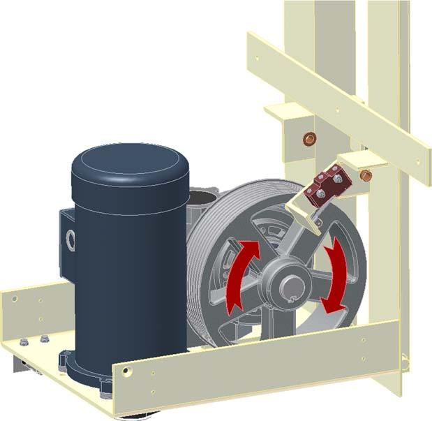 Wind the Steel Cable onto the Cable Drum Run lift in the up direction (using